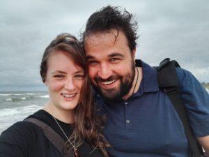 Selfie am Meer von Janosch und Christina