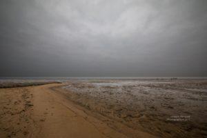 Wattenmeer (Nordsee) bei Ebbe in der Nähe von Cuxhaven