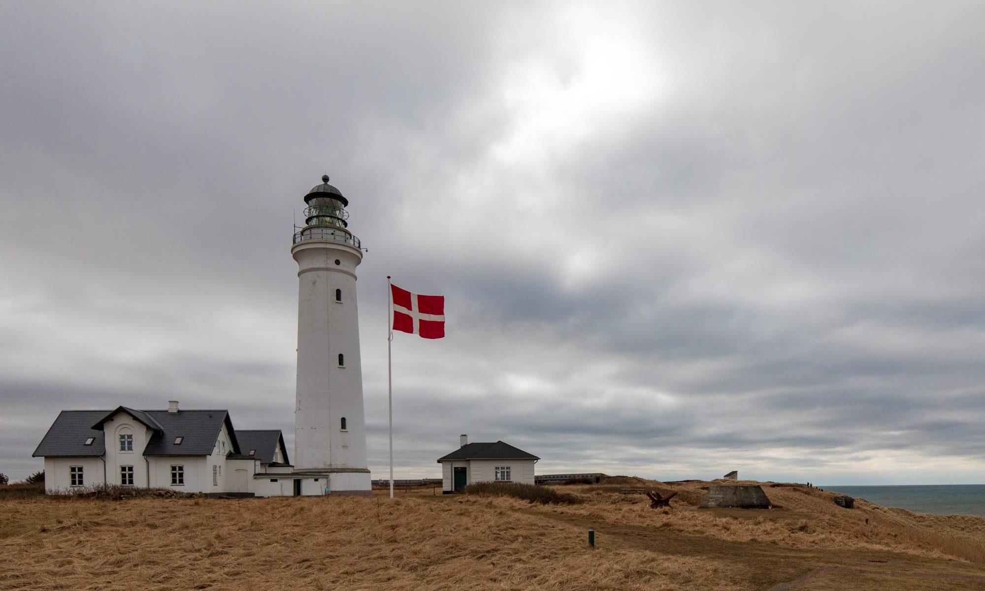 Leuchtturm der dänischen Stadt Hirtshals.