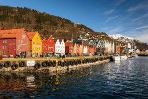 Blick auf die Bryggen in Bergen