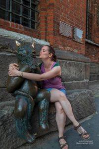 Foto einer Teufelskulptur