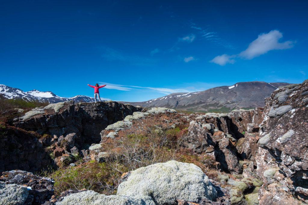 Foto eines Fotoshootings im Pingvellir Nationalparks
