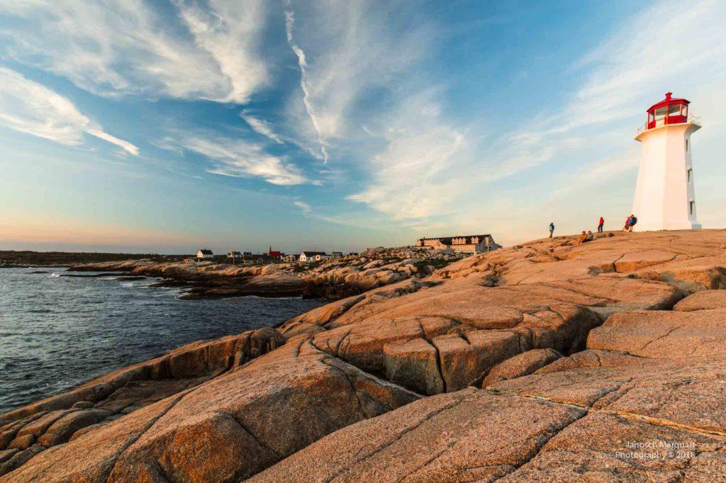 Foto des Leuchtturms von Peggy Cove