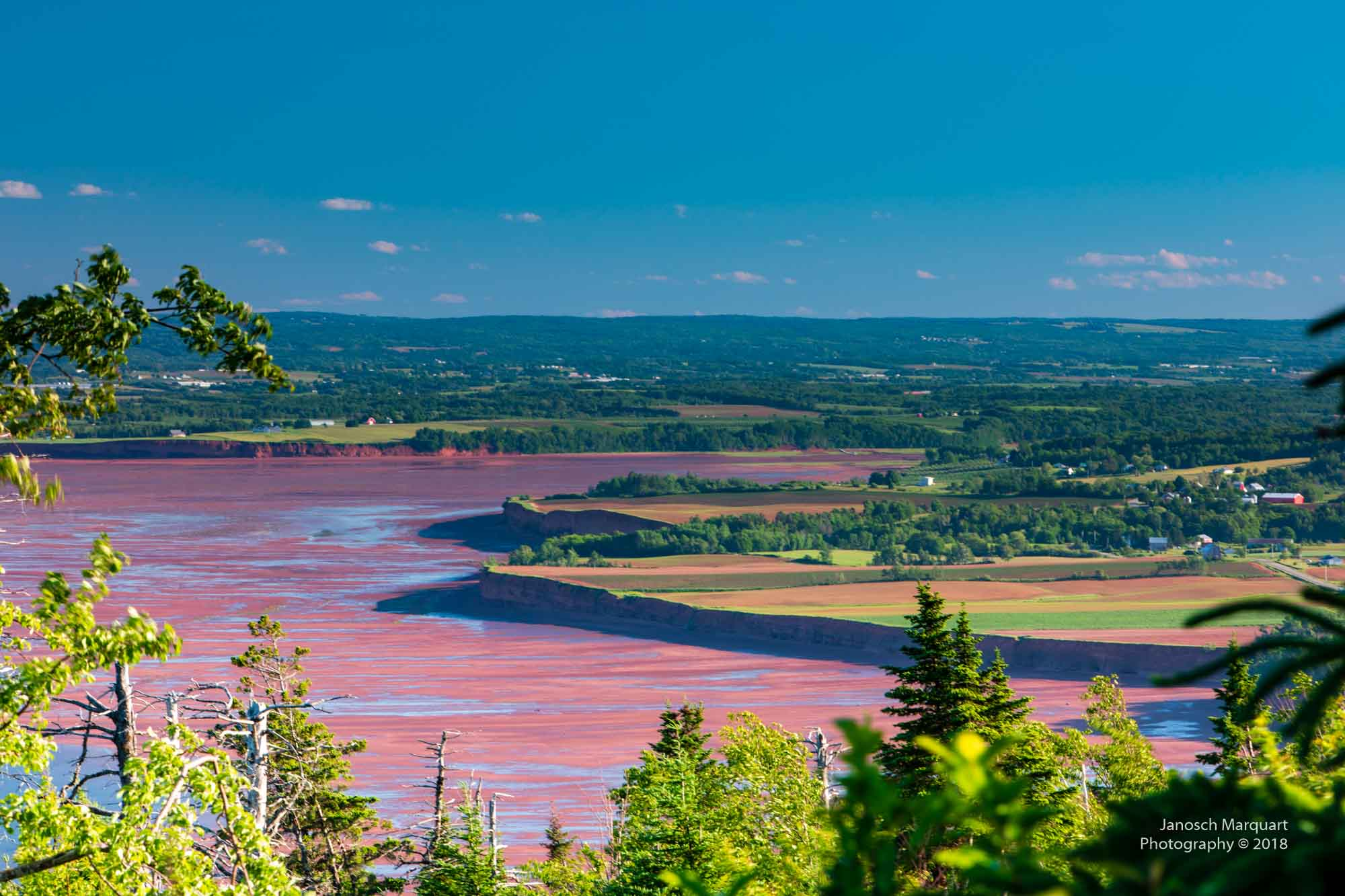 Foto der Ebbe in der Bay of Fundy.