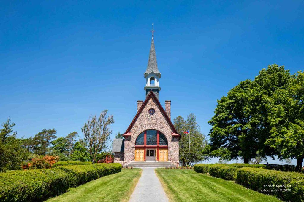 Foto der Kirche auf dem Gelände des Grand Pre National Historic Site.