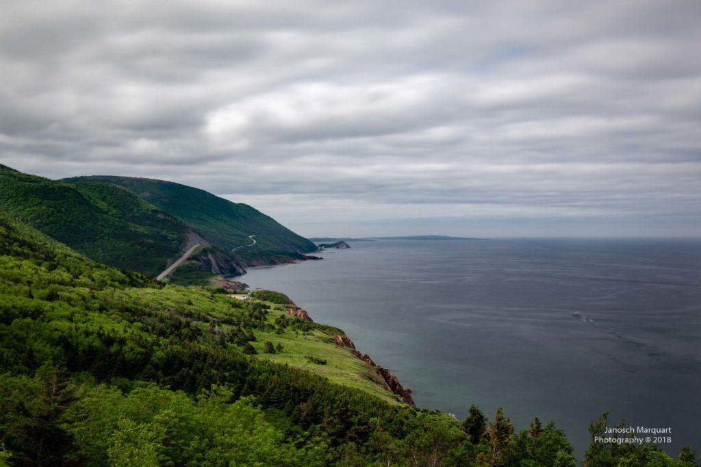 Foto der Ringstrass mit viel Wald und Küste.