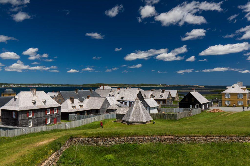 Foto des Innern des Fortress of Louisbourg.