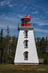 Foto eines freistehenden Leuchtturms auf PEI