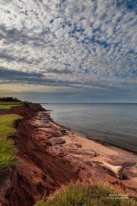 Foto einer roten Küste auf PEI.