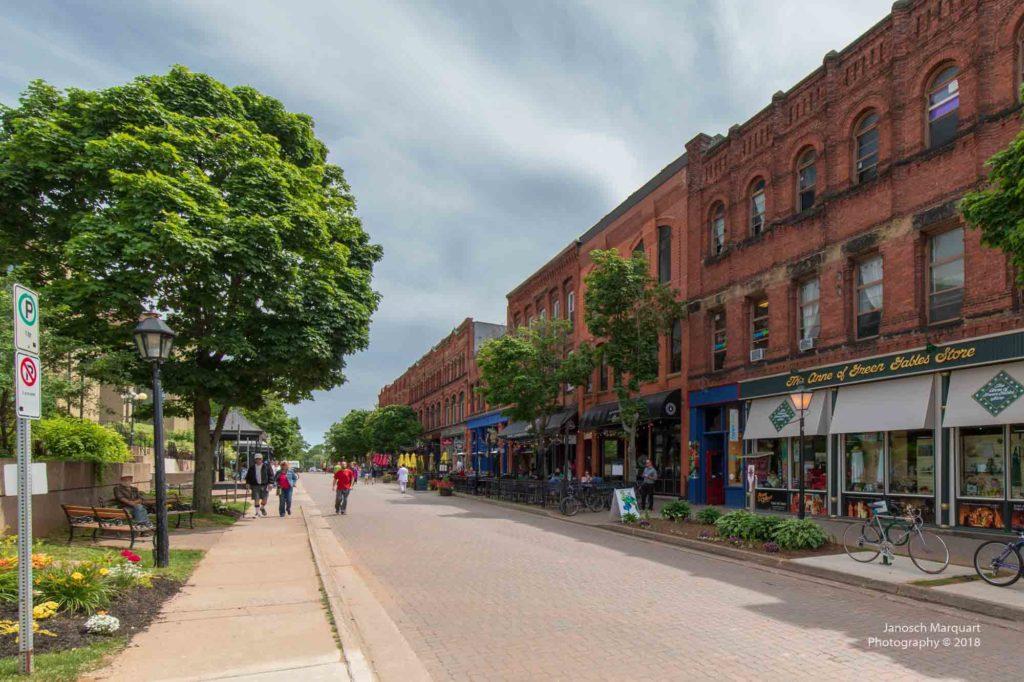 Foto einer Strasse in Charlottetown