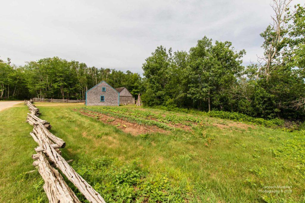 Foto eines historischen Bauernhofs der Arcadier.