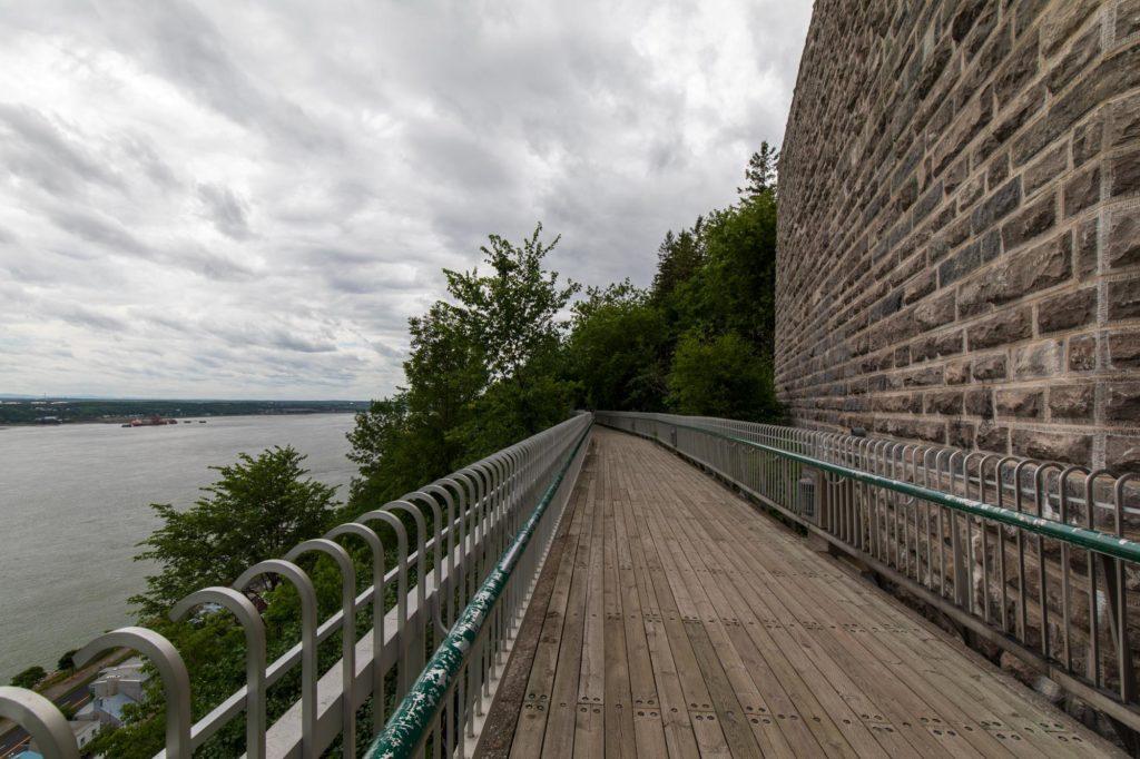 Foto des Governors Walk unterhalb der Zitadelle von Quebec.