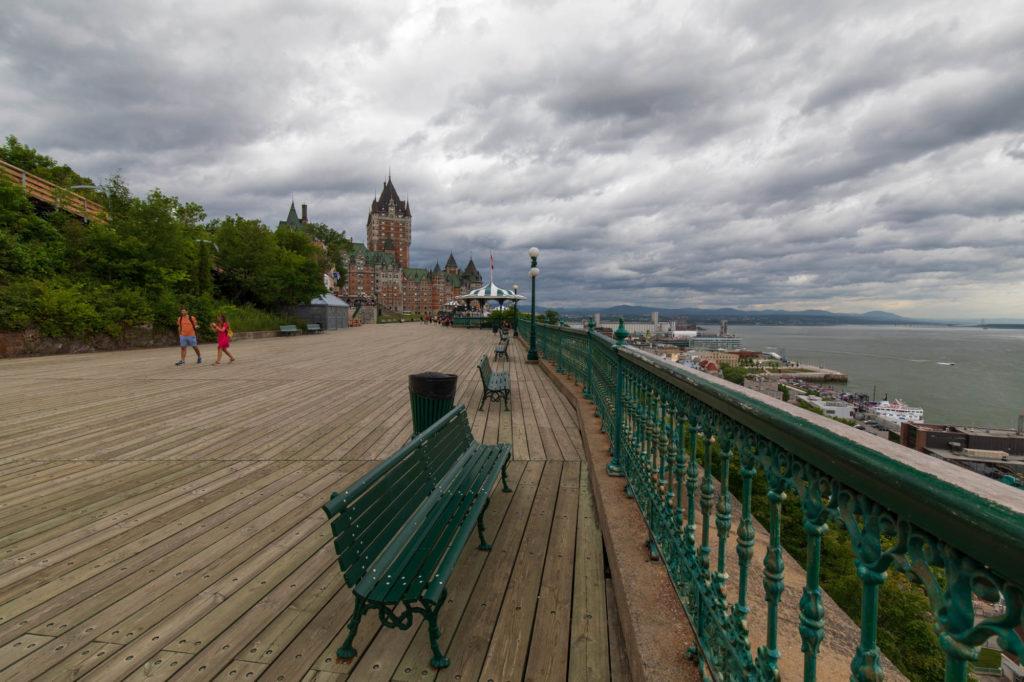 Fot der Dufferin Terasse in Quebec City.