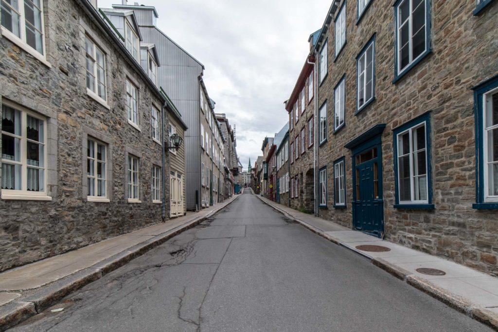 Foto von Steinhäusern in Quebec City.