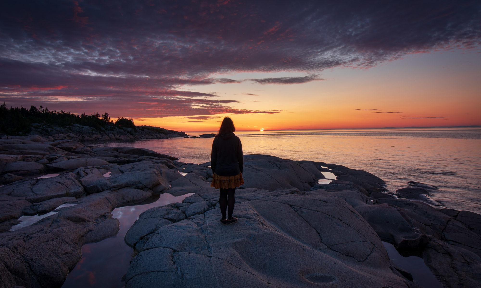 Foto des Sonnenaufgangs beim Campingplatz Paradis Marin.