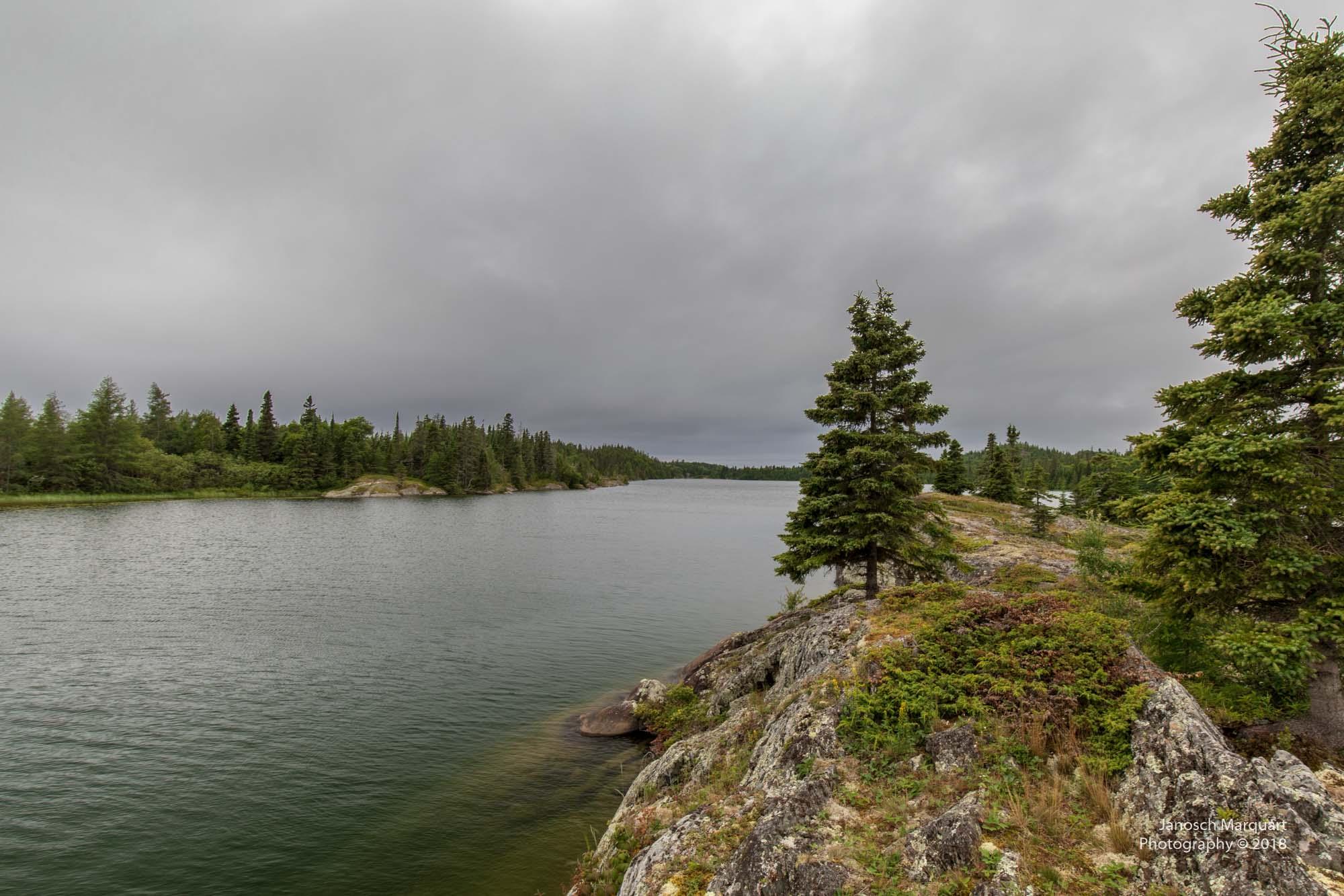 Foto einer Insel in der Hattie Cove
