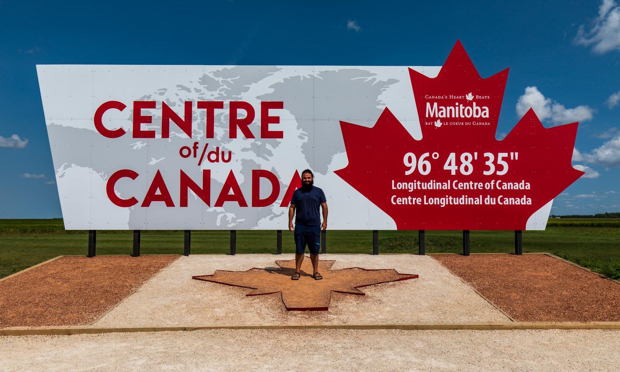 Center of Canada Schild