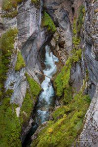 Foto des Maligne Canyons.