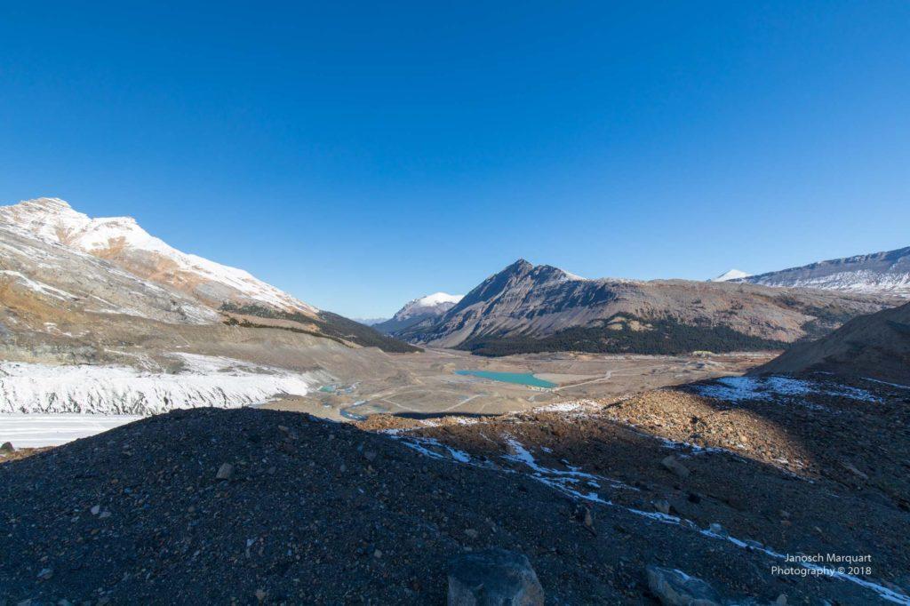 Aussicht auf die Gletschermoräne.