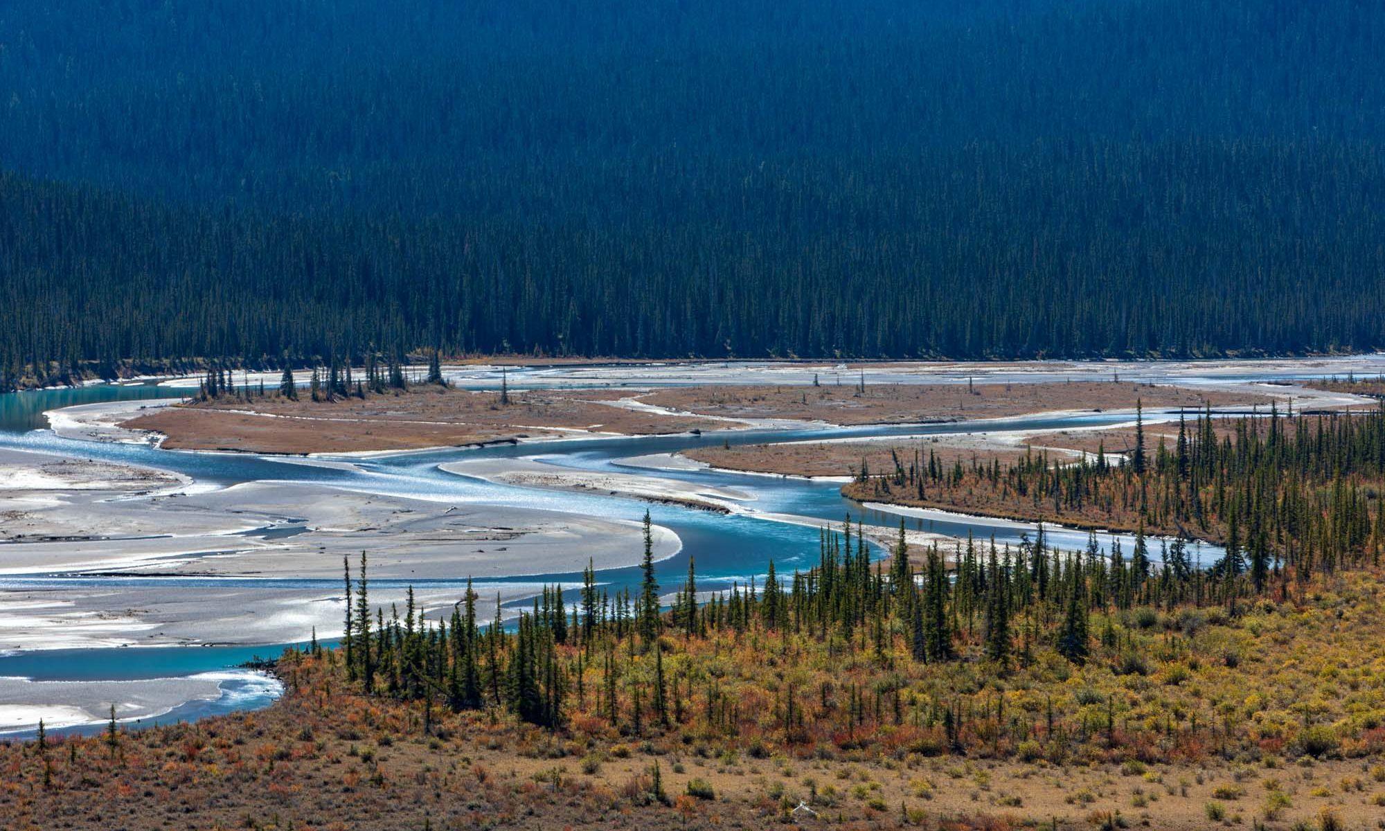 Türkisfarbener Fluss im Banff Nationalpark