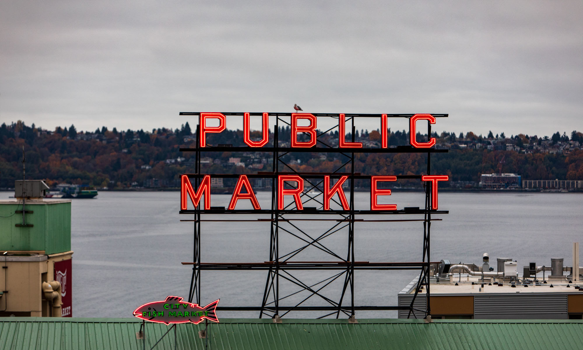 Public Market Sign in Seattle
