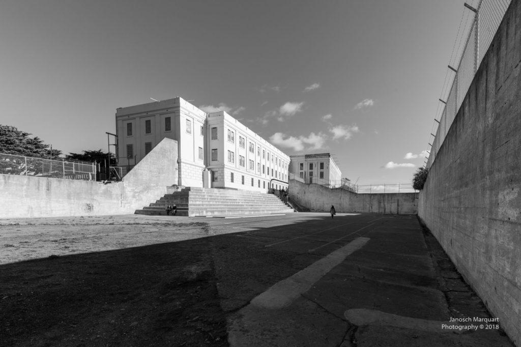 Gefängnishof in Alcatraz