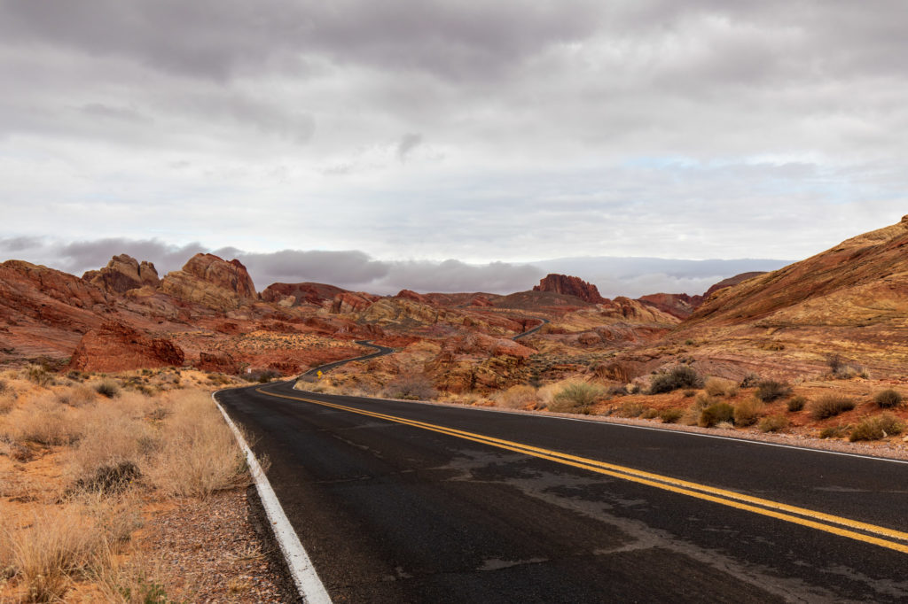 Strasse im Valley of Fire.