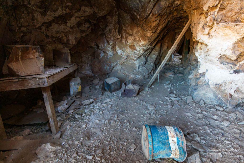 Blick in eine verlassene Goldmine