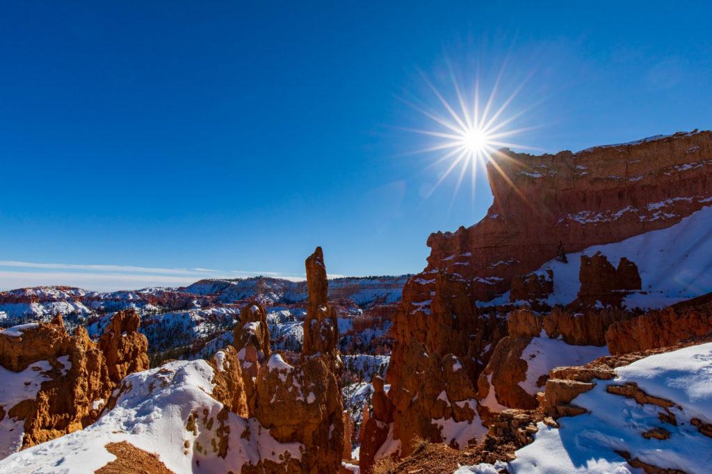 Schnee und Eis im Bryce Canyon