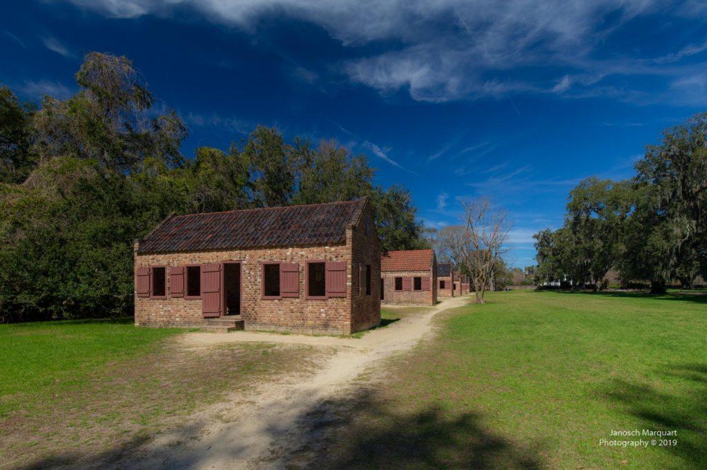 Sklavenbehausungen in der Boone Hall Plantation.